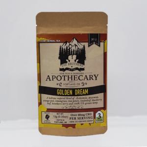 Brothers Apothecary Golden Dream 60mg CBD infused tea 3 pack