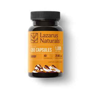 Lazarus Naturals Energy Blend Capsules 25mg product picture on East Coast Herbalist shop page