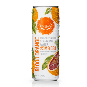 Wyld CBD Blood Orange sparkling Water 25mg hemp extract on east coast herbalist website